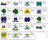 University of Notre Dame Huge Set of 19 TEAM LOGOS EMBROIDERY MACHINE DESIGNS INSTANT DOWNLOAD