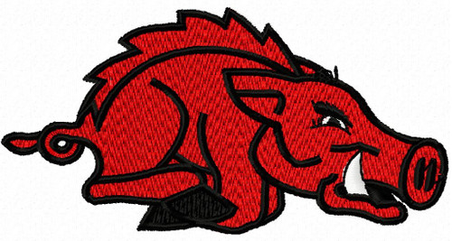 University of Arkansas Razorbacks College Sports Team Machine Embroidery Designs Instant Download