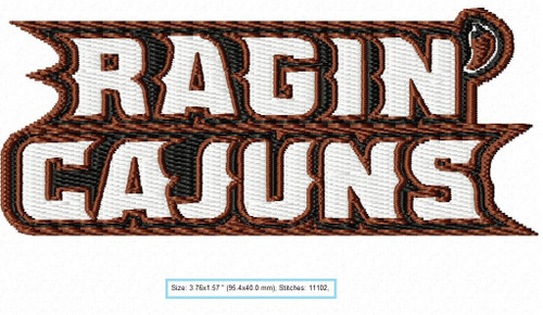 Louisiana Lafayette Ragin Cajuns football Sports Team Football Machine Embroidery Designs Instant Download