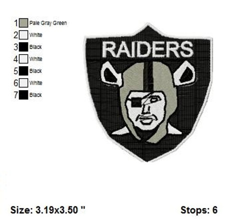 Oakland Raiders NFL football  Sports Team Embroidery Designs Download
