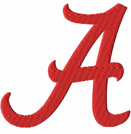 Alabama Crimson Tide University Sports Embroidery Designs Download