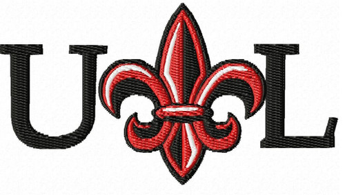 University of Louisiana at Lafayette Sports Embroidery Designs Download