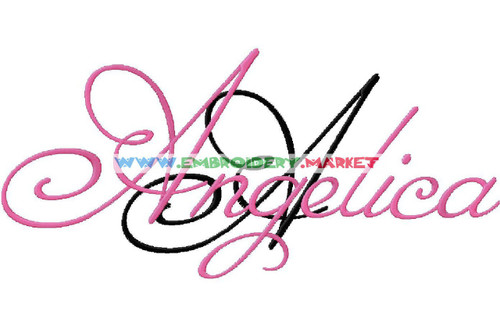ANGELICA Machine Embroidery Designs Fonts Instant Download