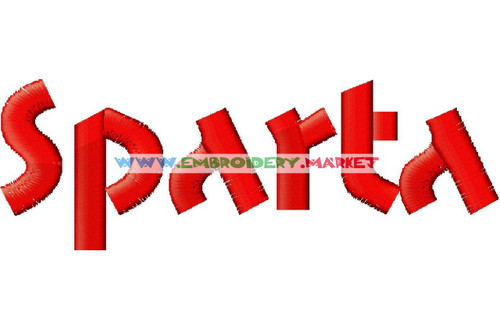 SPARTA Machine Embroidery Designs Fonts Instant Download