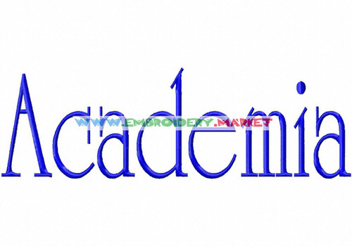 ACADEMIA Machine Embroidery Designs Fonts Instant Download