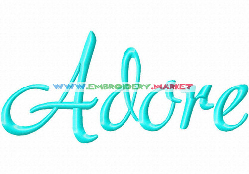 ADORE Machine Embroidery Designs Fonts Instant Download