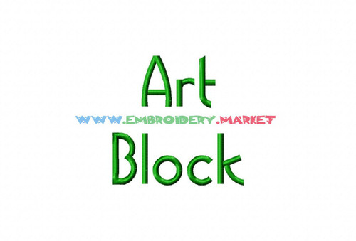 ART BLOCK  Machine Embroidery Designs Fonts Instant Download