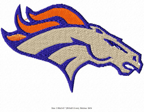 Denver Broncos Pro Football NFL Embroidery Designs