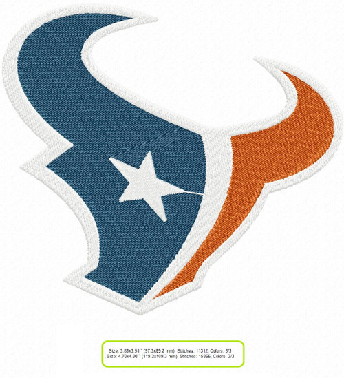 Houston Texans Logo NFL football Machine Embroidery Designs