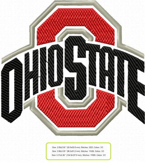 Ohio State Buckeyes college football Machine Embroidery Designs