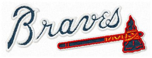 Atlanta Braves MLB Sports Team Machine Embroidery Designs Instant Download