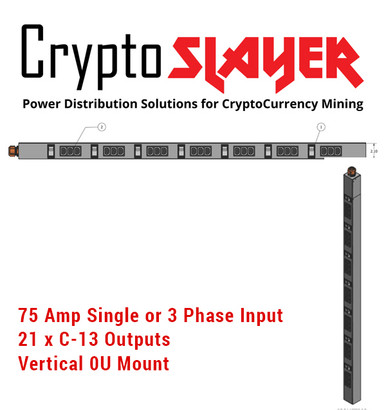 Crypto Slayer++ - 75 Amp 0U PDU