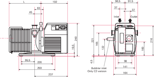 Alcatel 2010SD Vacuum Pump-Rebuilt