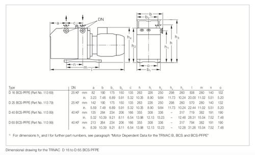 Leybold D65BCS Vacuum Pump-Reconditioned PFPE