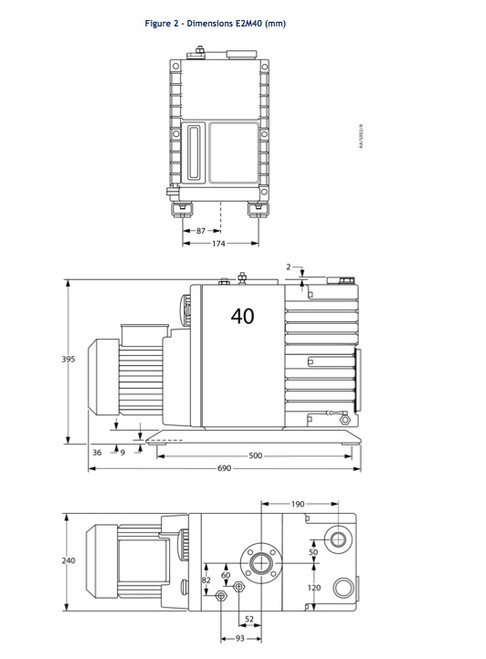Edwards E2M40 PFPE Vacuum Pump-RECONDITIONED
