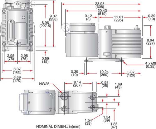 Edwards E2M18 Vacuum Pump
