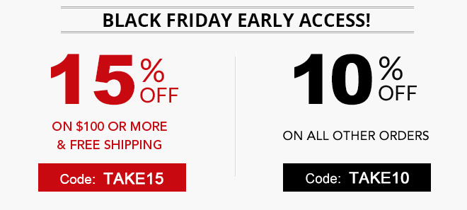 Black Friday early access sale on ink and toner 15% off coupon plus free shipping offer