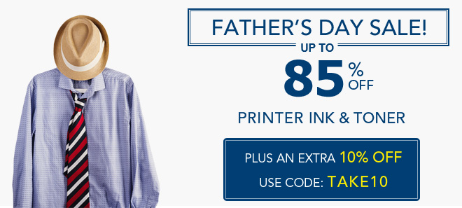 Fathers day sale 10% off coupon plus free shipping offer