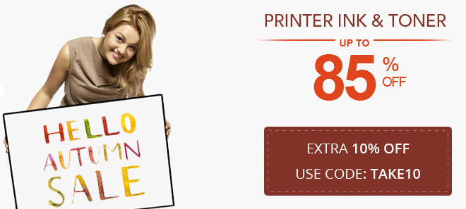 Fall sale on ink and toner 10% off coupon plus free shipping offer