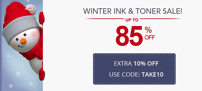 Winter savings on ink and toner 10% off coupon plus free shipping offer