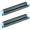 2 Pack - ribbon roll refills for Panasonic KX-FA92