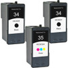 Lexmark #34 Black - #35 Color 3-pack replacement