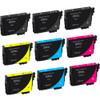 Epson T200XL Black & Color Set 9-pack replacement