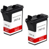 Pitney-Bowes 797-0 fluorescent red ink cartridge - 2 Pack