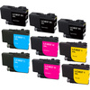 Brother LC3037 Ink Cartridge, Super High-Yield, 9-Pack