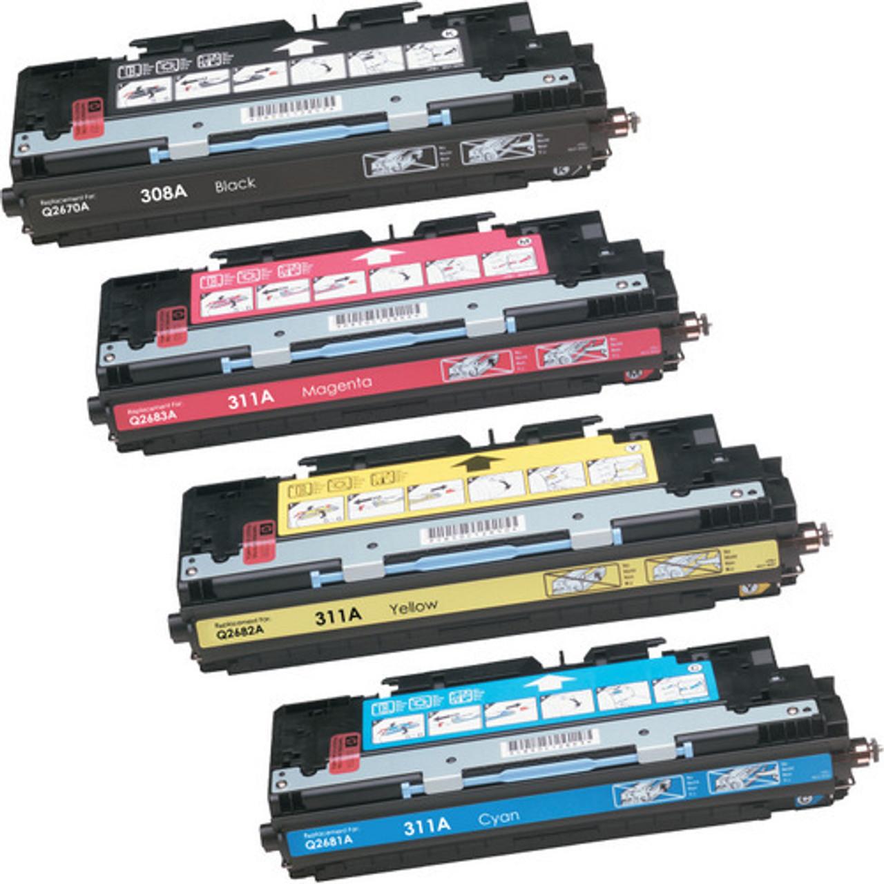 Compatible Replacement for HP Q2670A Q2681A Q2682A Q2683A Toner Set  3700//3700N