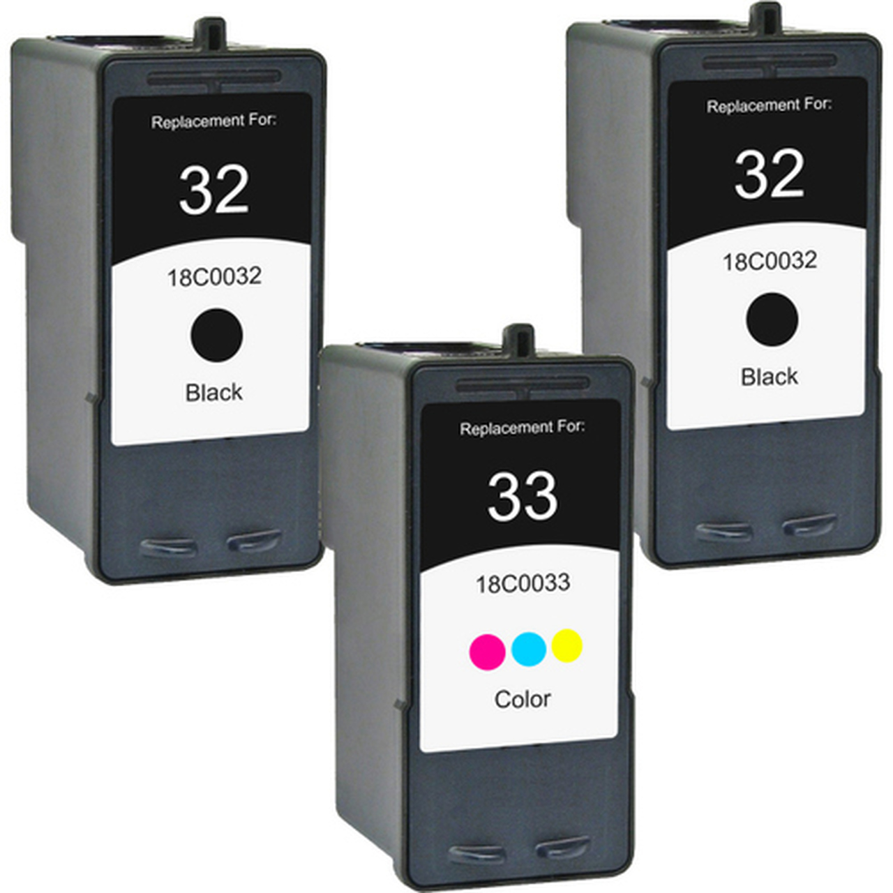 8 Pack 18C0032 32 33 Black /& Color Printer REMAN Ink Cartridge for Lexmark