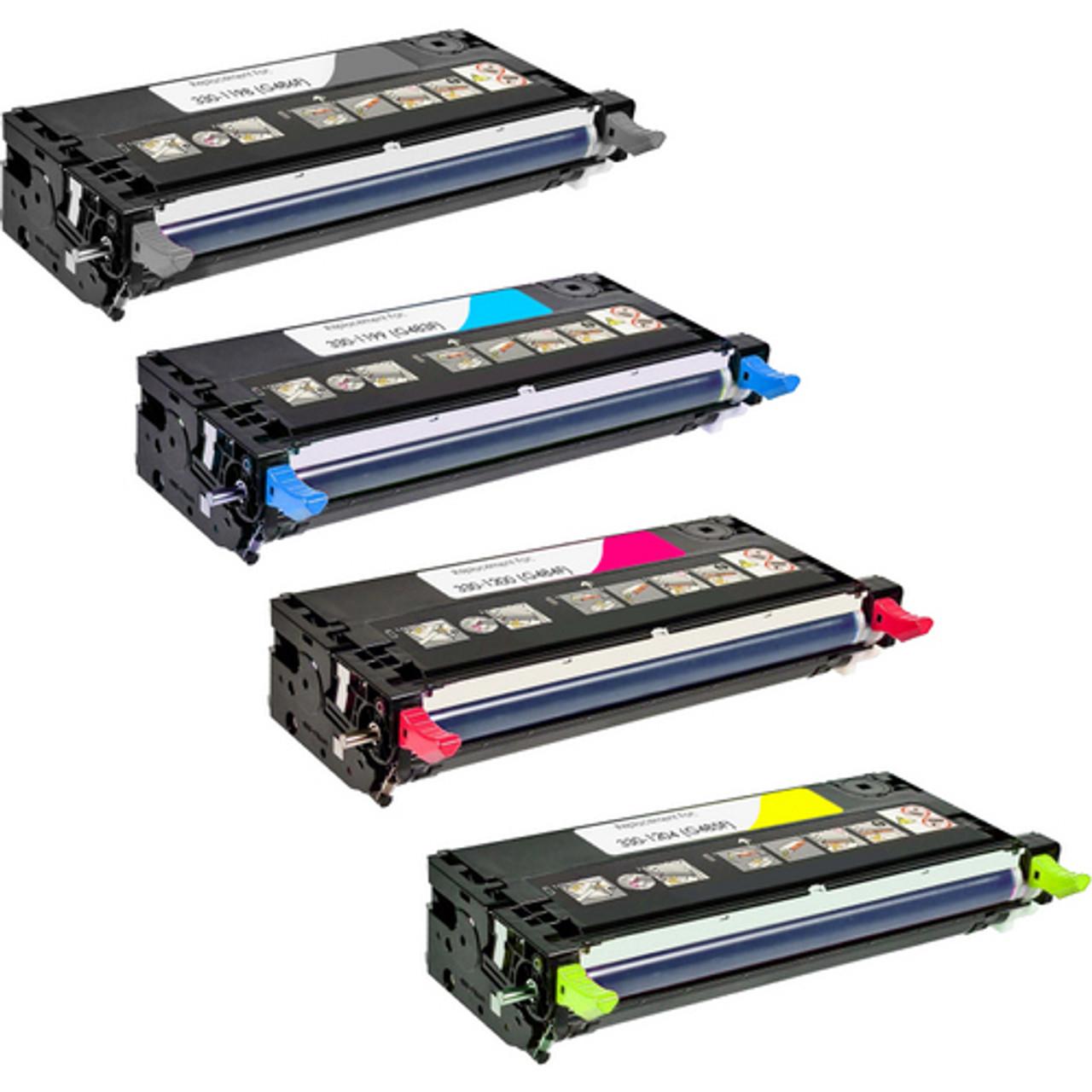 Dell 3130cn Compatible Toner Cartridges Set of 4