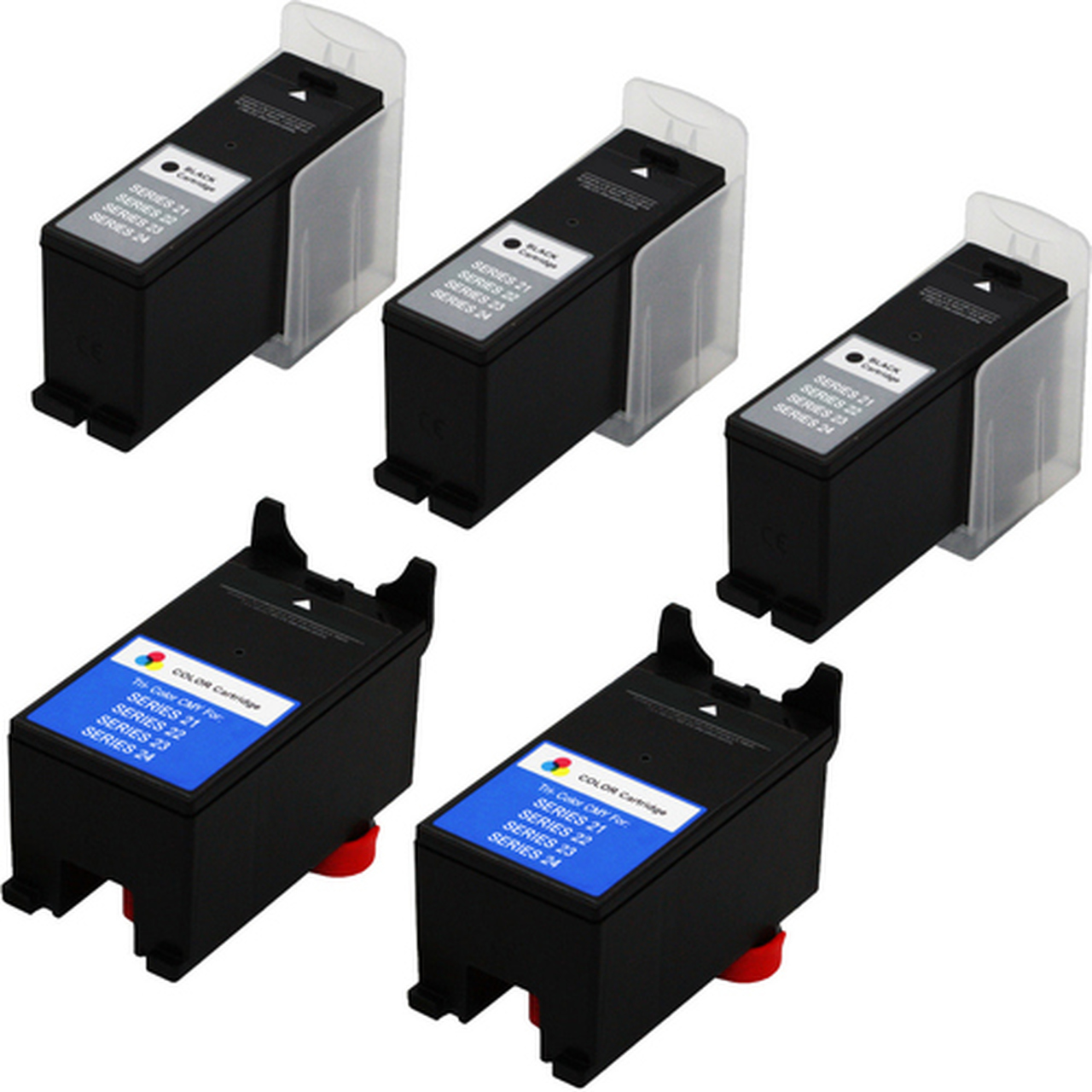T112N/_4PK SuppliesMAX Compatible Replacement for Dell P713W//V715W Color High Yield Inkjet Series 24 4//PK