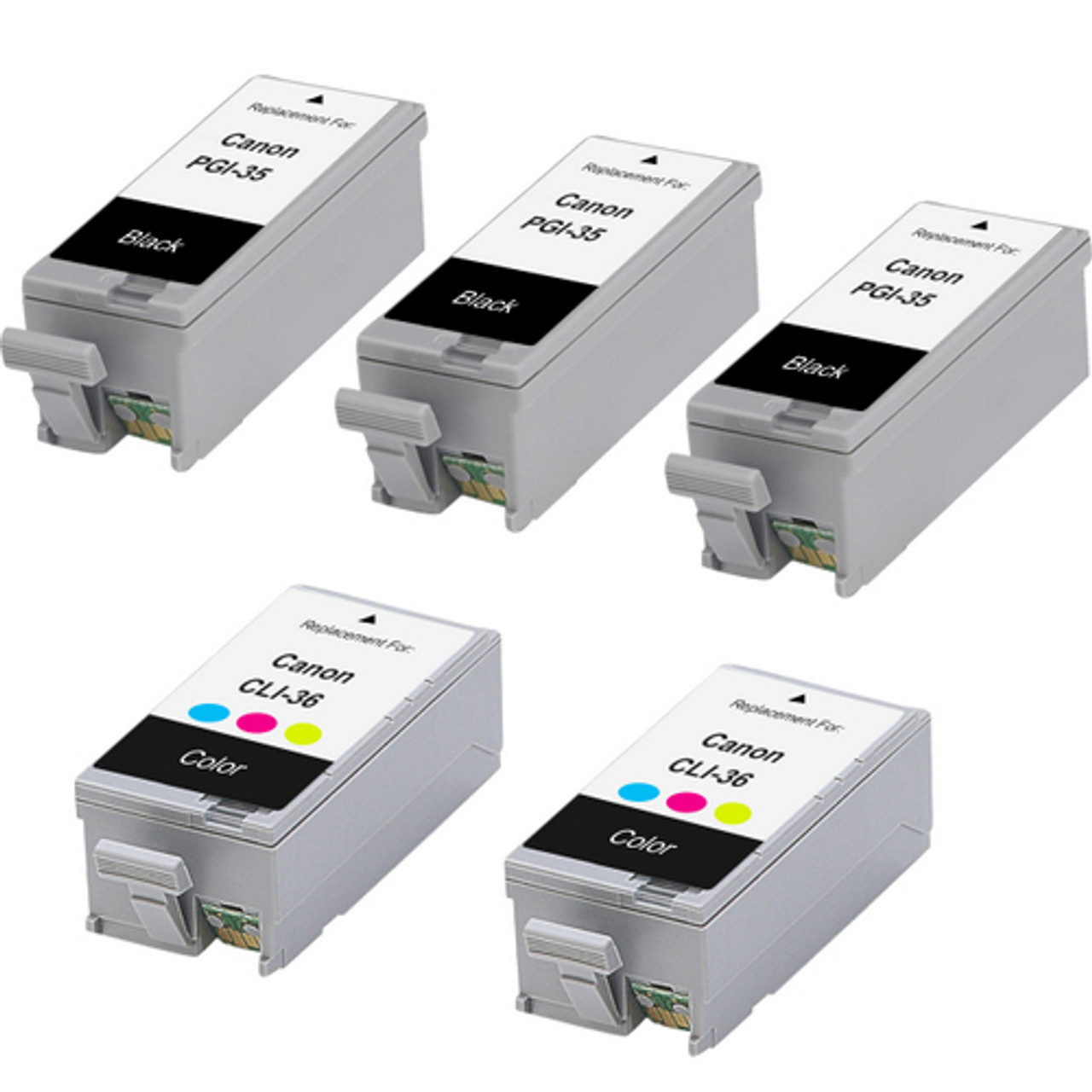 PSX Compatible Ink Cartridge Replacement for Canon PGI-35 B Works with PIXMA iP100 Black