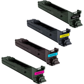 5570 Awesometoner Remanufactured Toner Cartridge Replacement for Konica Minolta A06V133 use with Magicolor 5550 Black, 3-Pack