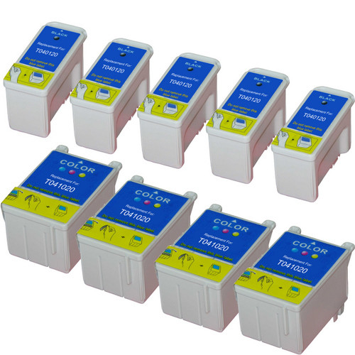 Epson T040-T041 Color and Black 9-pack replacement