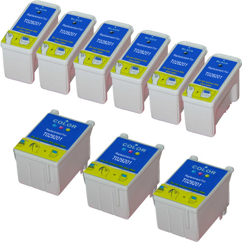 Epson T028-T029 Color and Black 9-pack replacement