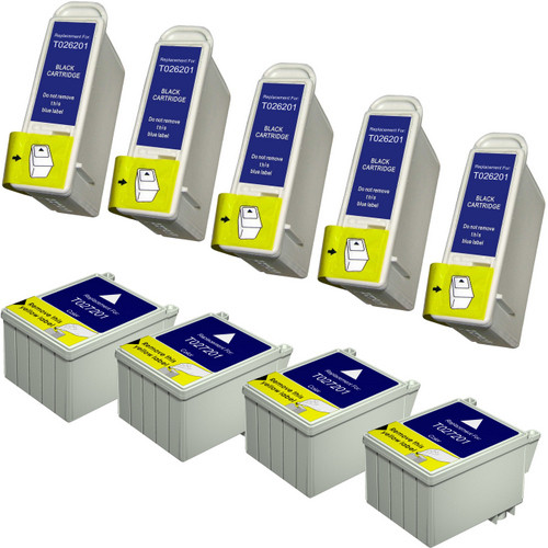 Epson T026-T027 Color and Black 9-pack replacement
