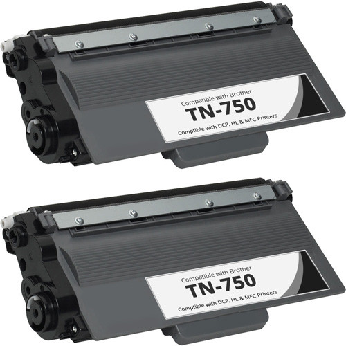 Brother TN-750 Toner Replacement - 2 Pack