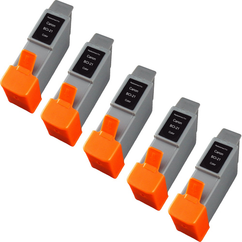 Canon BCI-21 Color 5-pack replacement