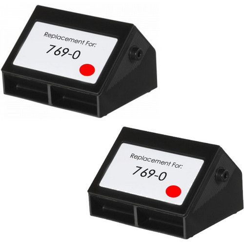 Pitney-Bowes 769-0 fluorescent red ink cartridge - 2 Pack