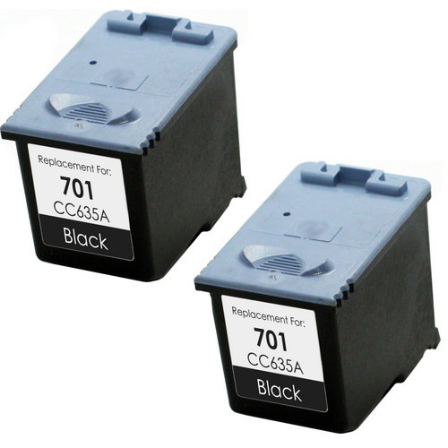 HP 701 Black 2-pack replacement