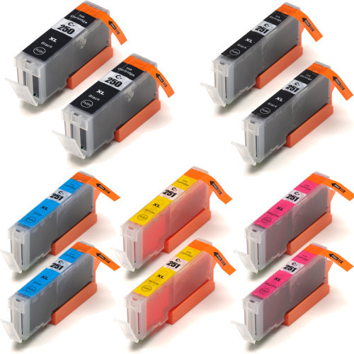 Canon Pgi-250B-Cli-251BCMY 10-pack replacement