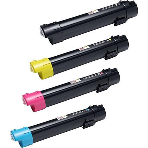 Toner Cartridges for Dell C5765dn Printer (1 Black, 1 Cyan, 1 Magenta, 1 Yellow)