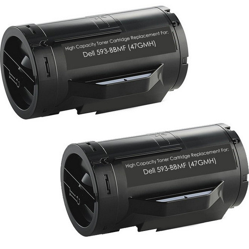 Twin Pack - Compatible replacement for Dell 593-BBMF (47GMH) black toner cartridge (593-BBMF - 47GMH 2-pack)