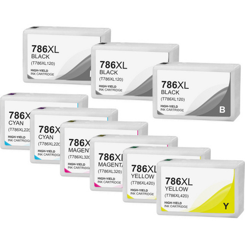 Epson T786XL Ink Cartridge Set, High Yield, 9 pack
