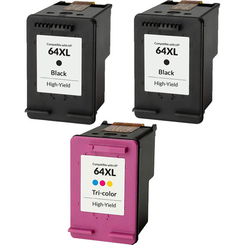 HP 64XL Ink Cartridge Set, High Yield