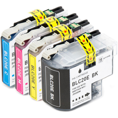 4-Pack Brother LC20E Ink Cartridge Set, Super High Yield