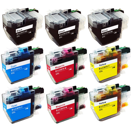 Brother LC3019 Ink Cartridge, Super High-Yield, 9-Pack