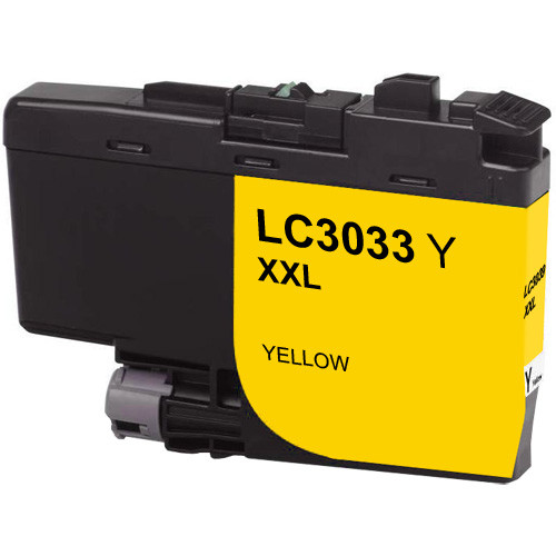 Brother LC3033Y Ink Cartridge, Yellow, Super High-Yield